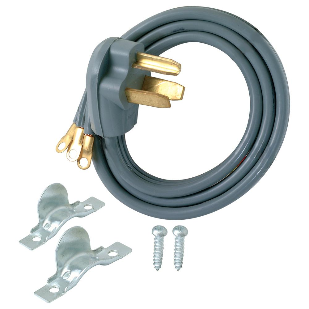 Ez Flo 10 Ft 3 Wire Dryer Cord 61252 The Home Depot Outlet Wiring Further 240 Volt Wires On
