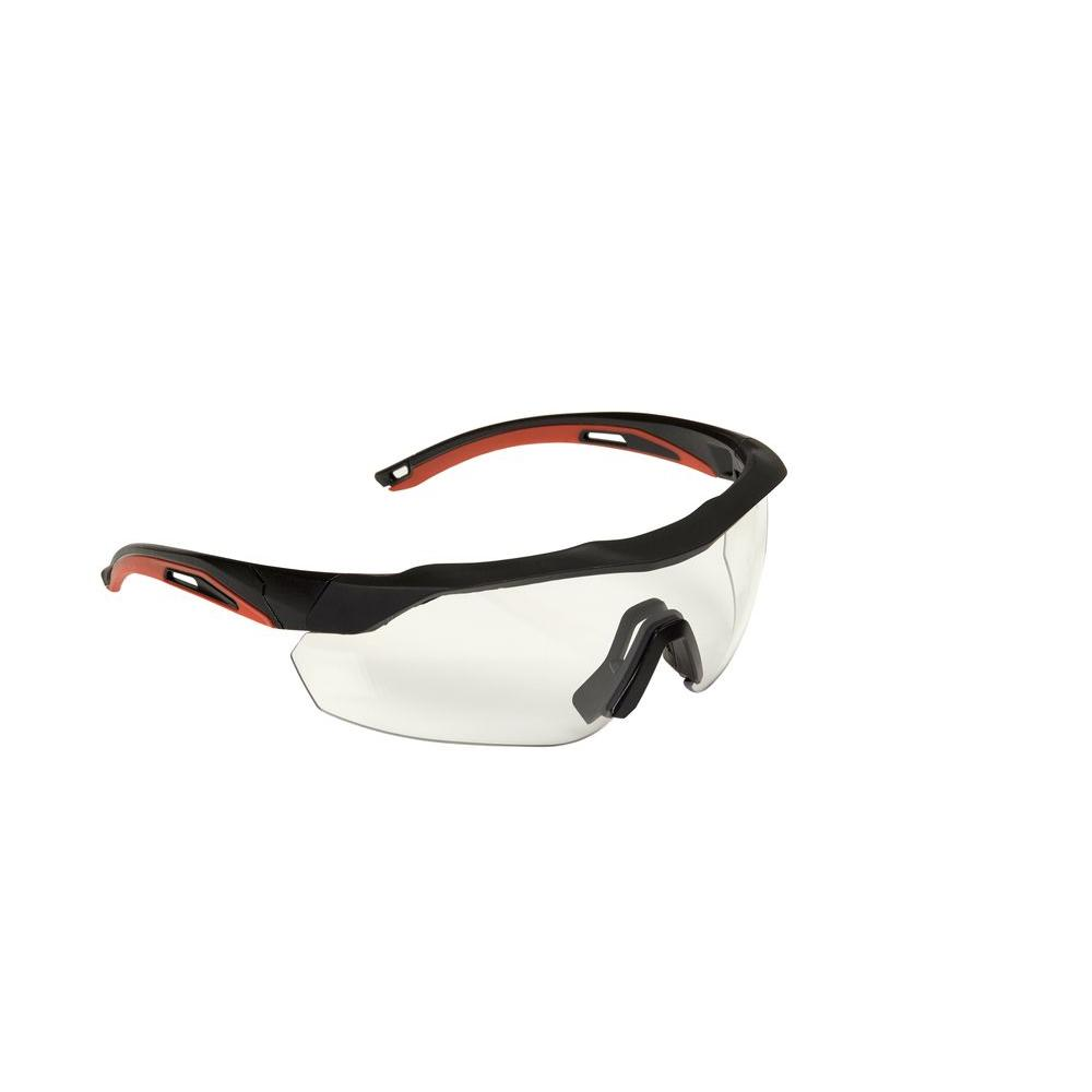 3M Accent Frame and Clear Anti-Fog Lens Black Performance Safety ...