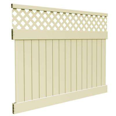 6 ft. H x 8 ft. W Sand Vinyl Carlsbad Privacy Fence Panel Kit