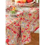 """April Cornell Rhapsody Red Paisley 36"""" x 36"""" Square Tablecloth"""
