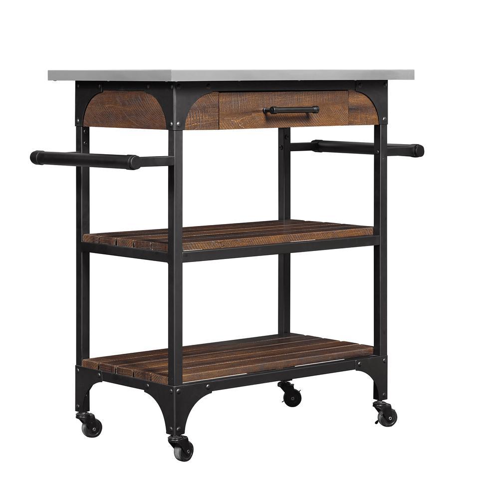Internet #301573028. +5. Bellu0027O Caraway Espresso Kitchen Cart