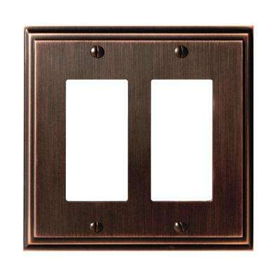 Mulholland 2-Rocker Wall Plate, Oil-Rubbed Bronze