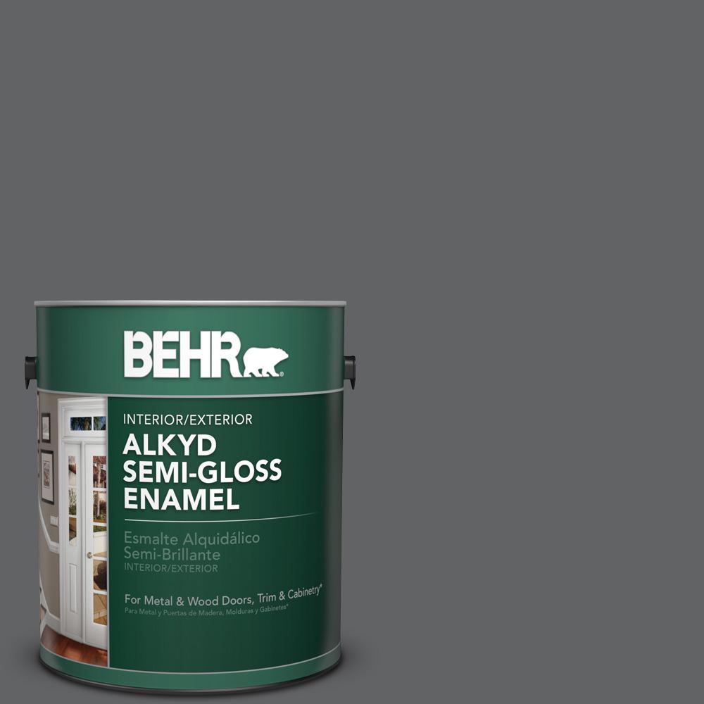 1 gal. #N530-6 Digital Semi-Gloss Enamel Alkyd Interior/Exterior Paint