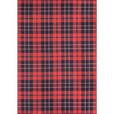 District York Red 3 ft. 3 in. x 5 ft. Indoor Area Rug