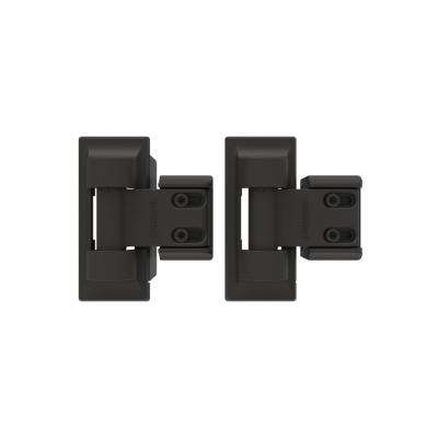 3.4 in. x 8 in. Steel Bronze Standard Wrap Hinge (2-Pack)