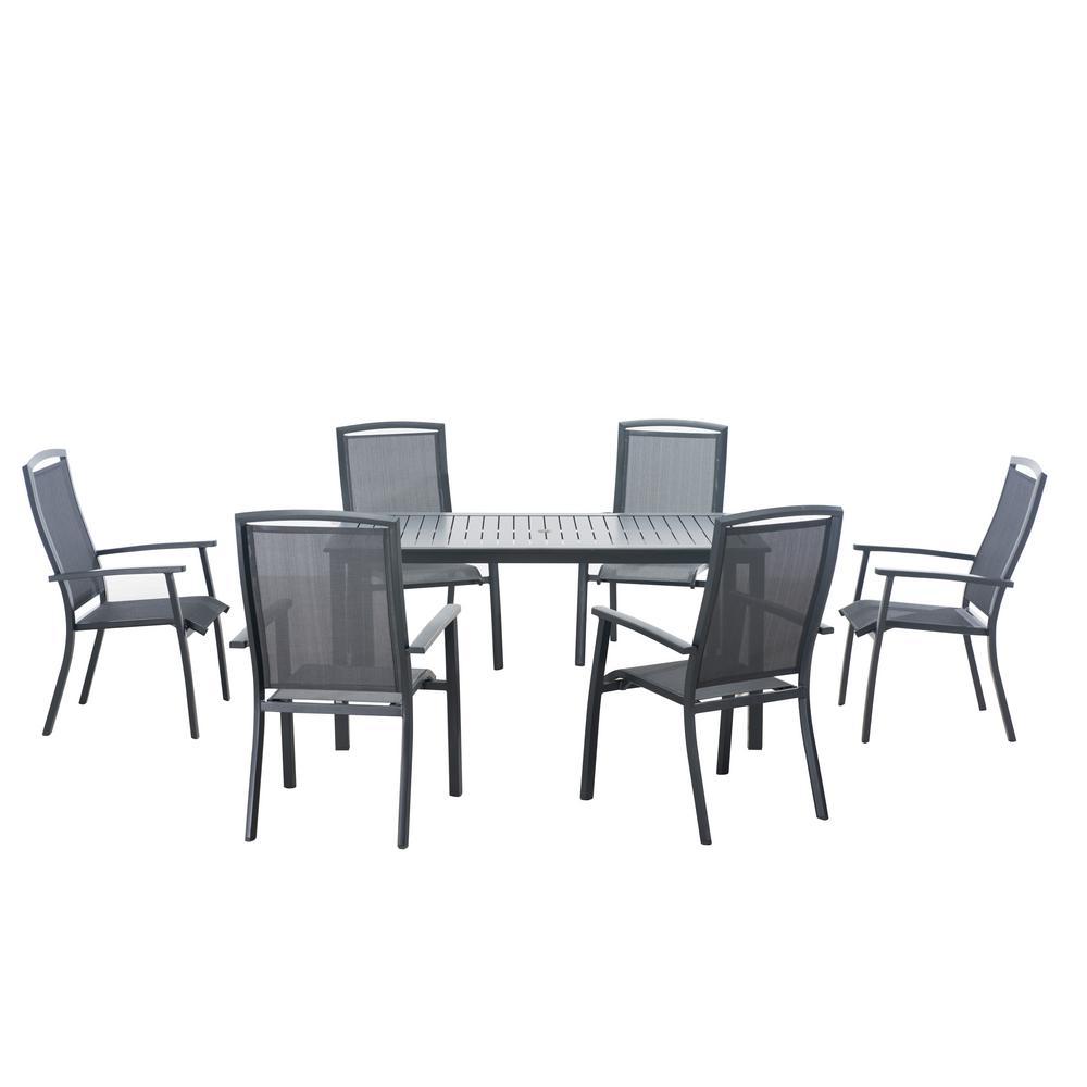Sunjoy sierra 7 piece patio dining set 110201024 the for 7 piece dining set