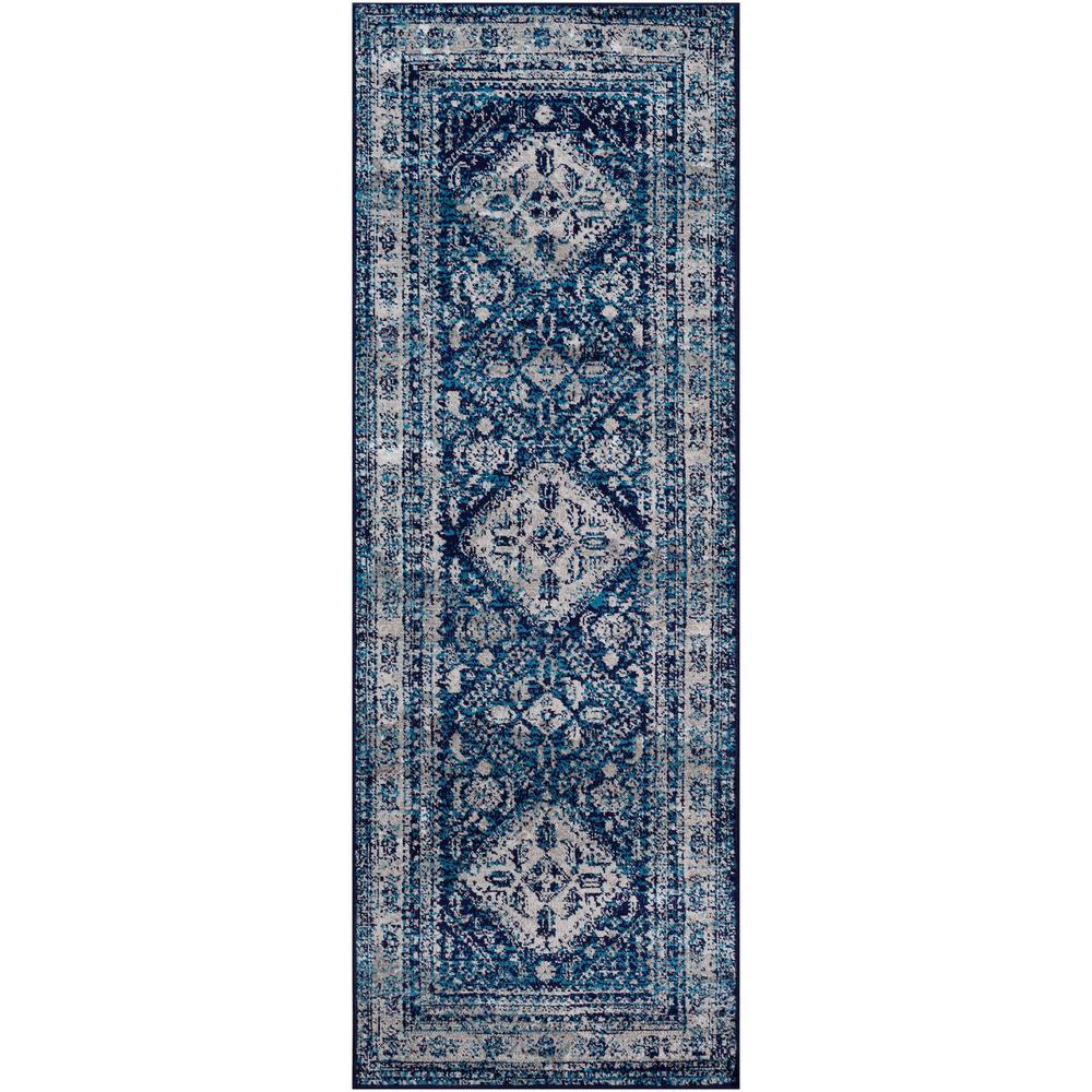 Artistic Weavers Havana Dark Navy 2 ft. 7 in. x 7 ft. 3 in. Runner Rug, Blue was $85.0 now $52.36 (38.0% off)