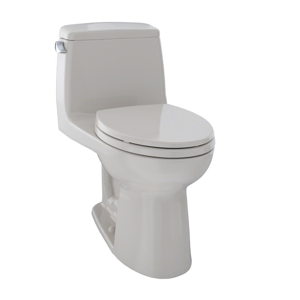 TOTO UltraMax 1-Piece 1.6 GPF Single Flush Elongated Toilet in Sedona Beige