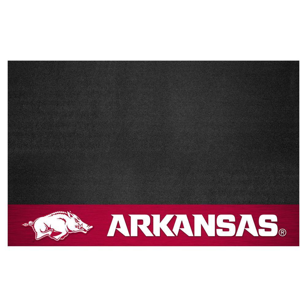 University of Arkansas 26 in. x 42 in. Grill Mat, Multi