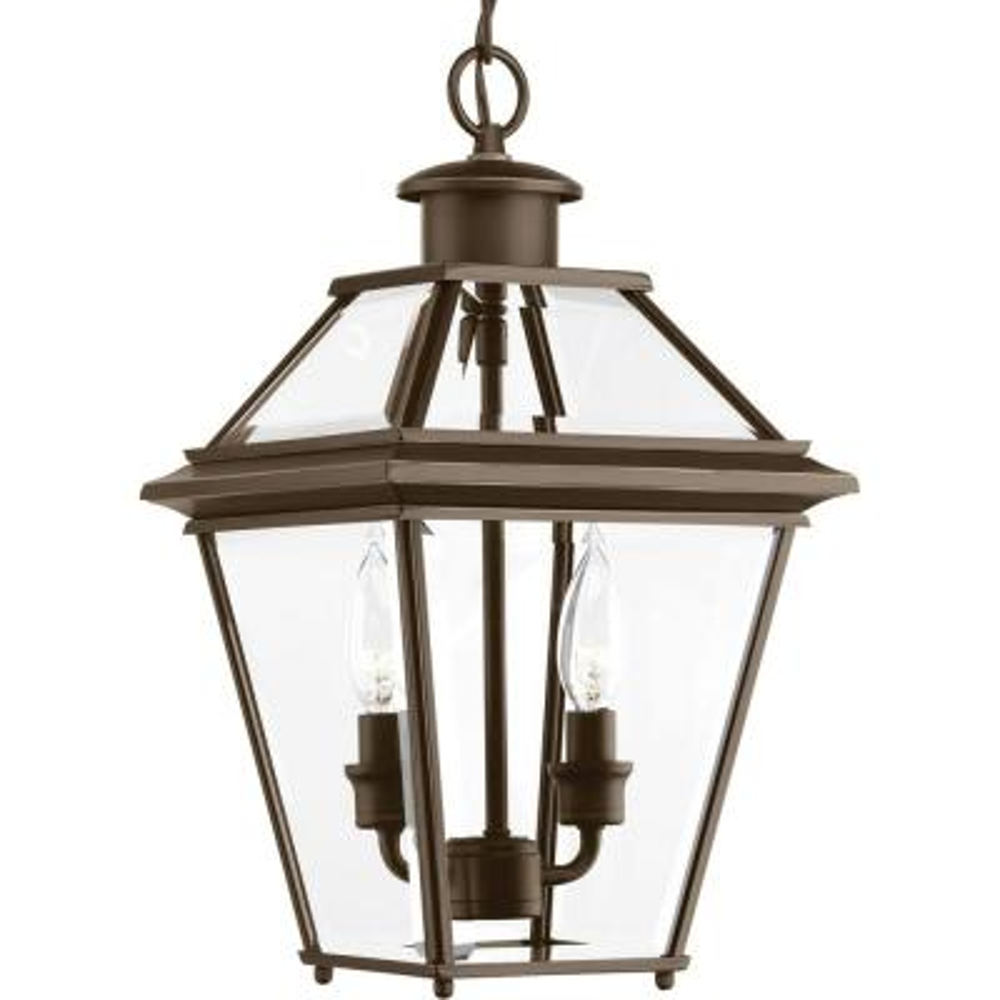 Burlington Collection 2-Light Outdoor Antique Bronze Hanging Lantern