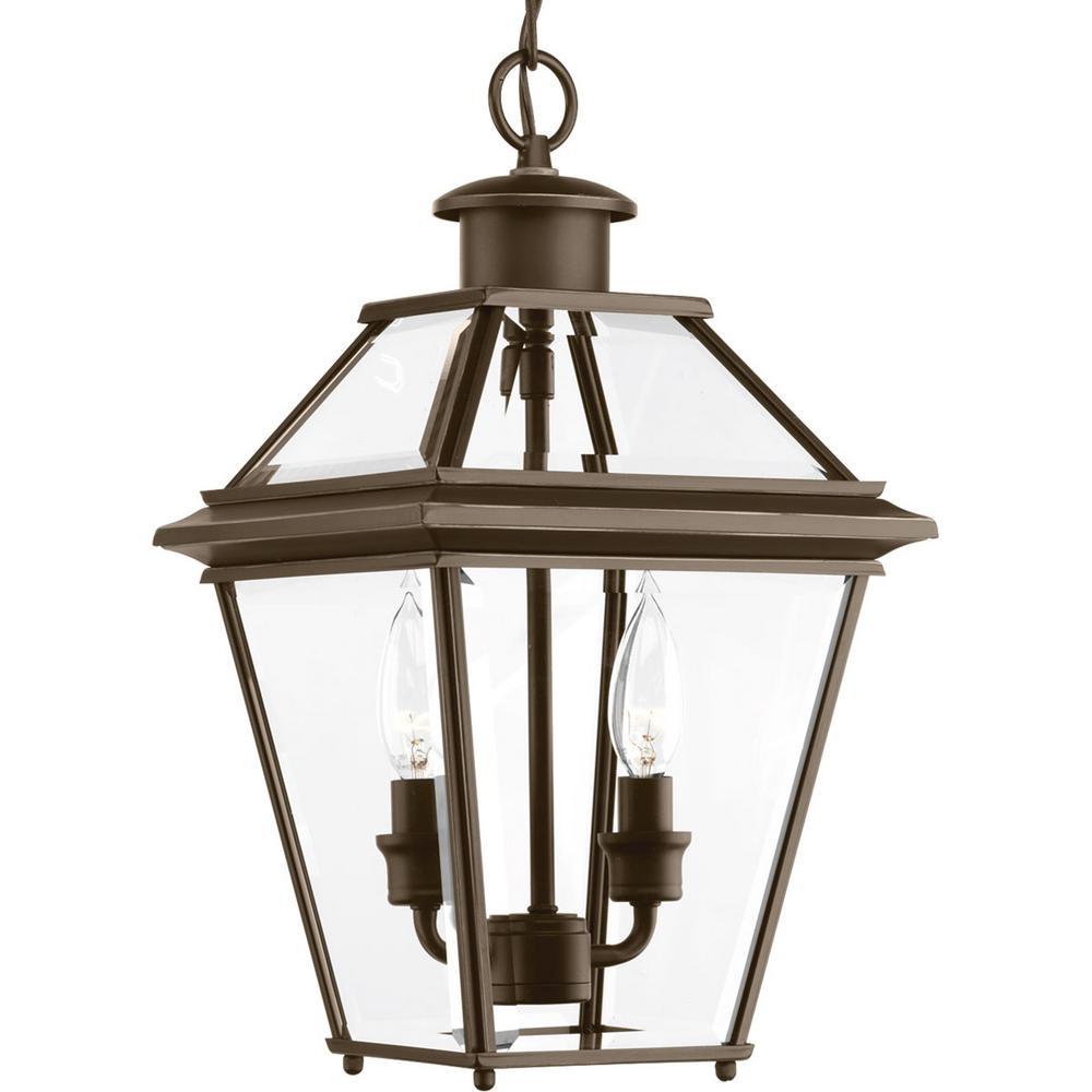 Outdoor Hanging Porch Lights: Progress Lighting Burlington Collection 2-Light Outdoor