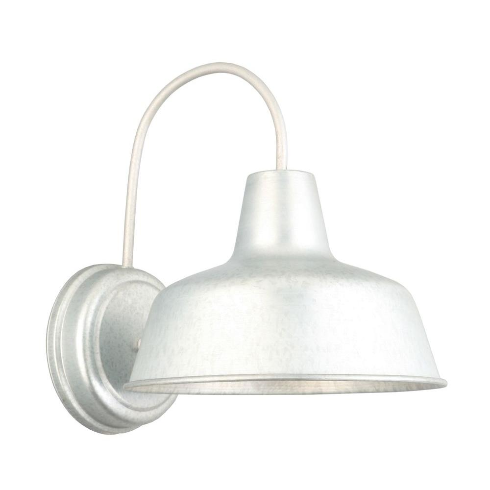 Design House Mason Galvanized Outdoor Wall Mount Barn Light Sconce