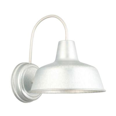 Mason 1-Light Galvanized Indoor/Outdoor Wall-Mount Barn Light Sconce