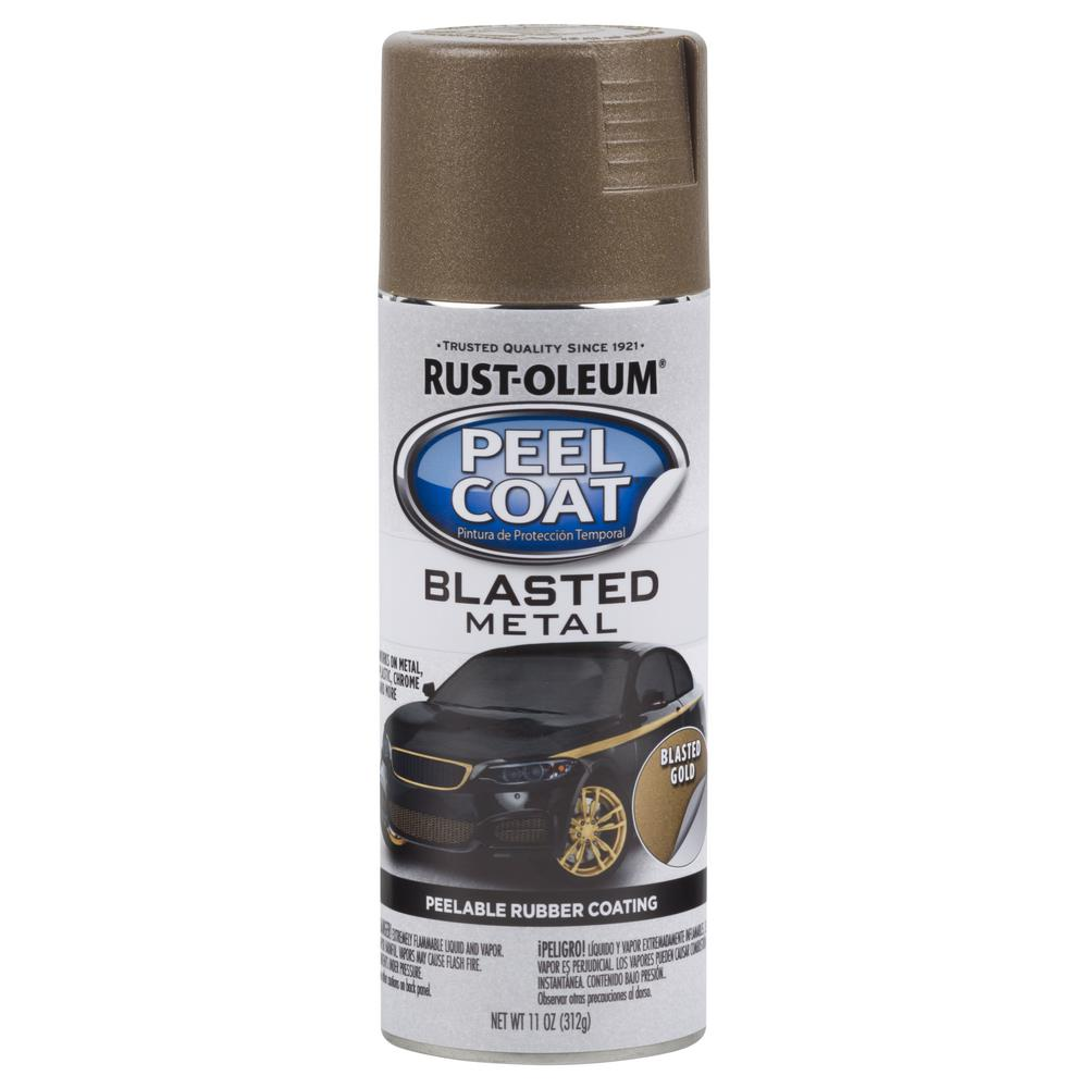 11 oz. Peel Coat Blasted Metal Gold Spray Paint (Case of