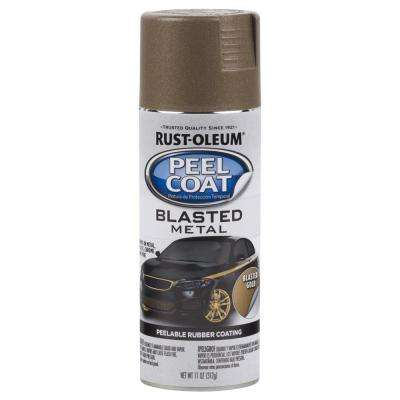 11 oz. Peel Coat Blasted Metal Gold Peelable Rubber Coating Spray Paint (6-Pack)