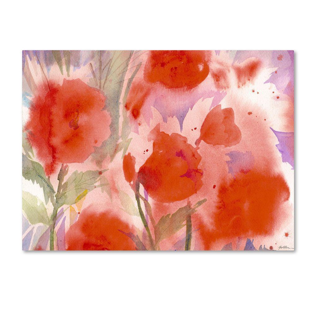 35 in. x 47 in. Crimson Field Canvas Art