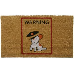Rubber-Cal Warning, Vicious Puppy Inside 30 inch x 18 inch Dog Door Mat by Rubber-Cal