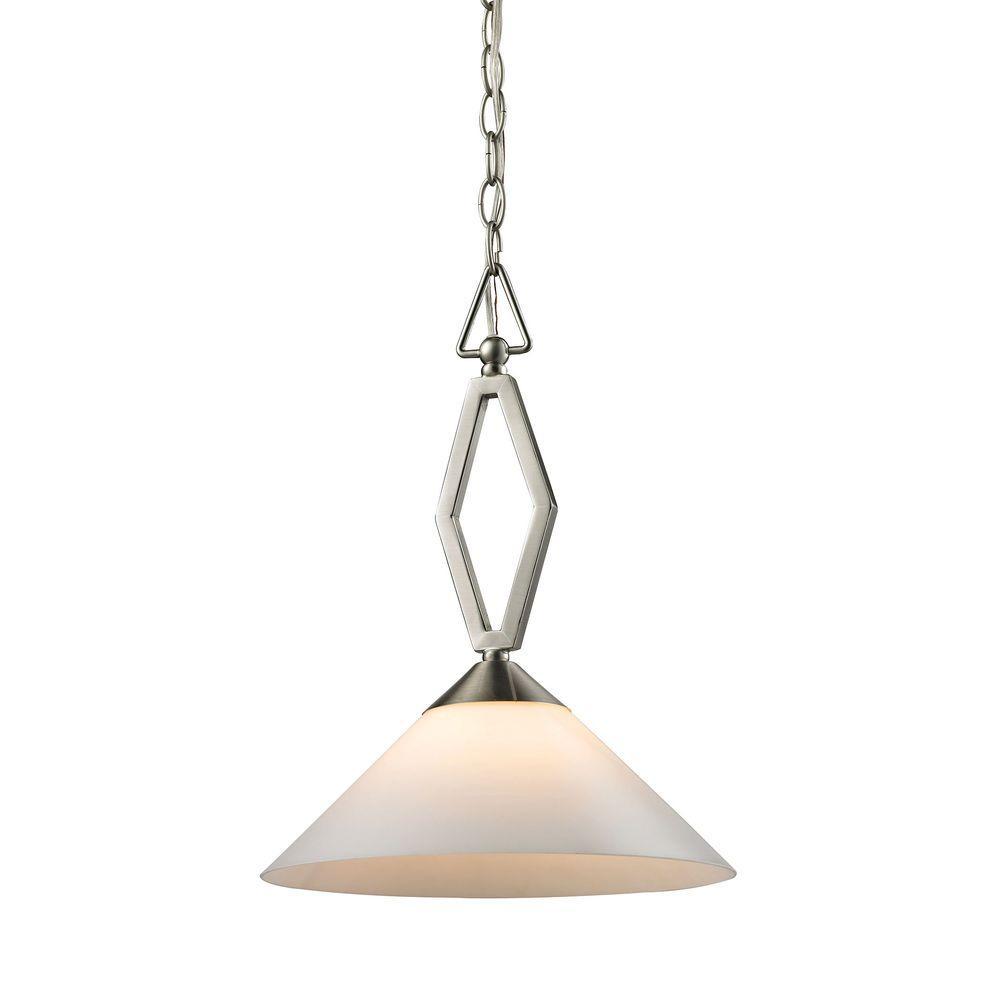 Titan Lighting Tribecca 2-Light Brushed Nickel Large Pendant