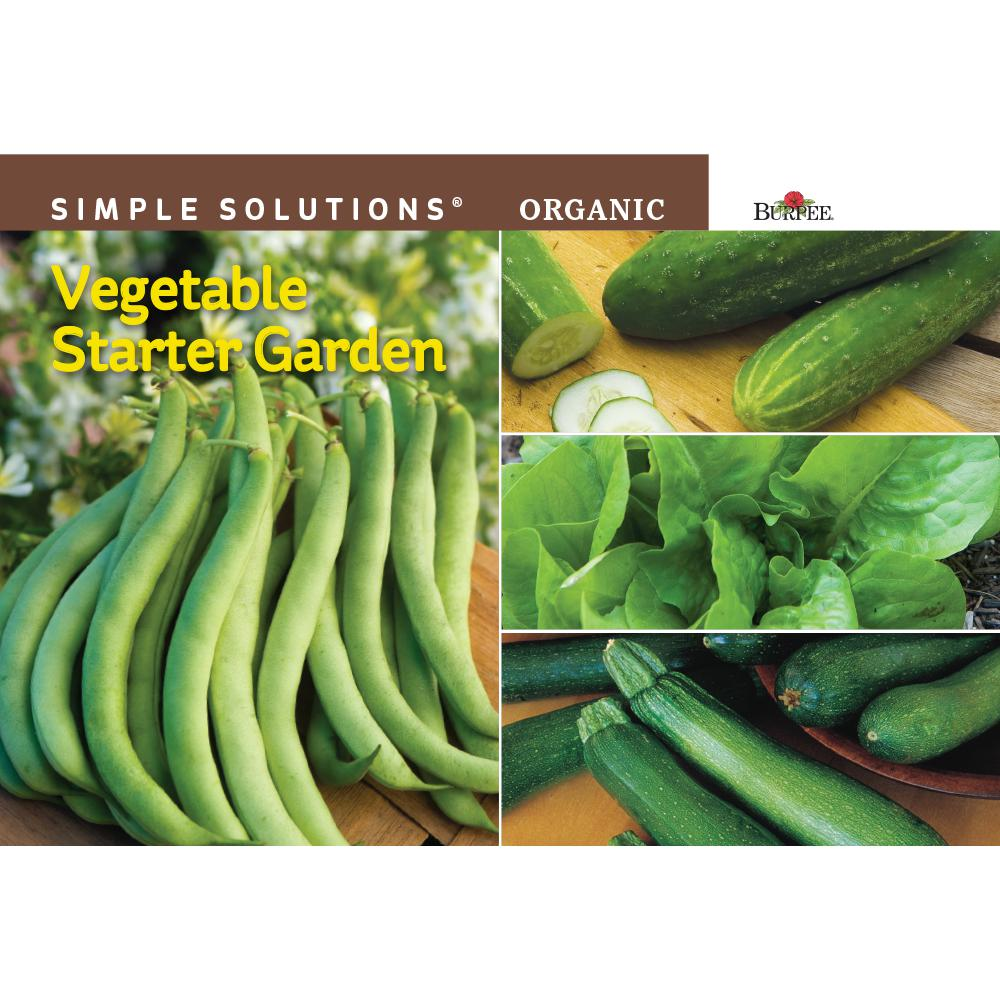 Simple Solutions Organic Vegetable Starter Garden Seed