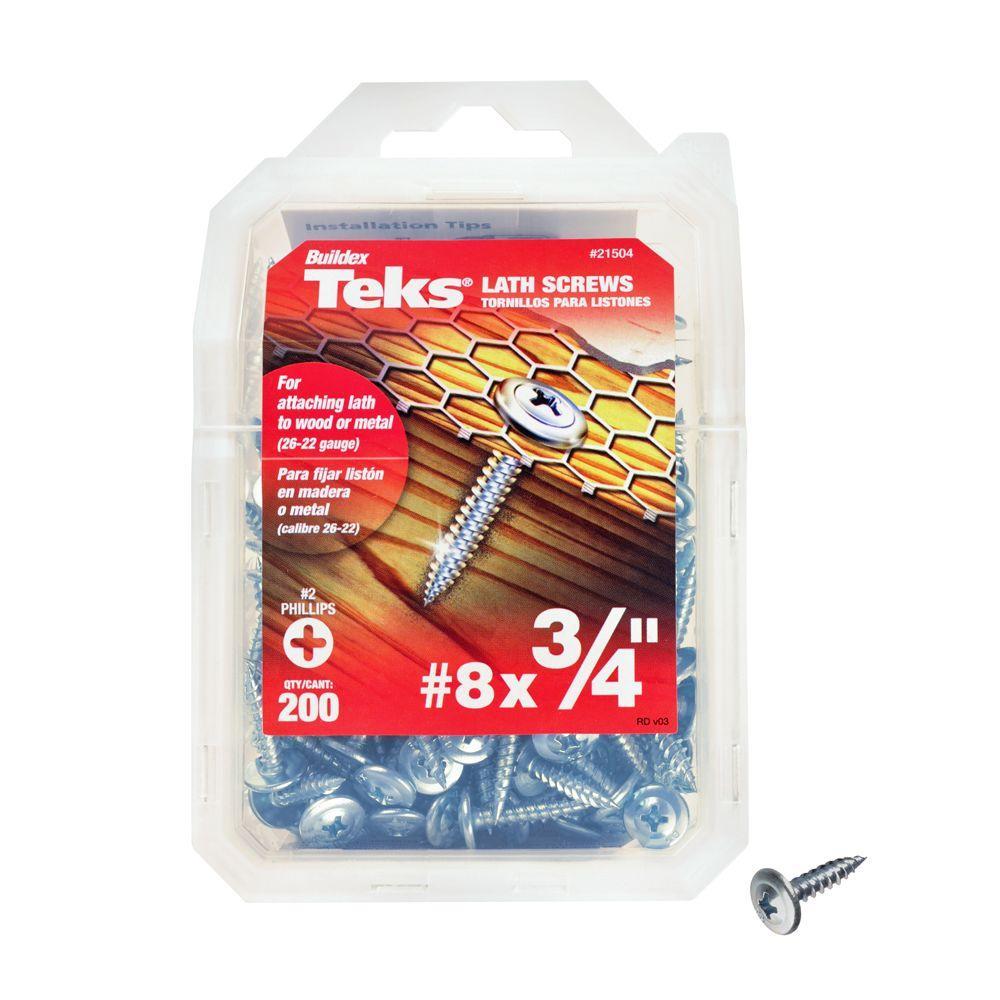 Teks #8 3/4 in. Phillips Truss-Head Self-Drilling Screws (200-Pack)