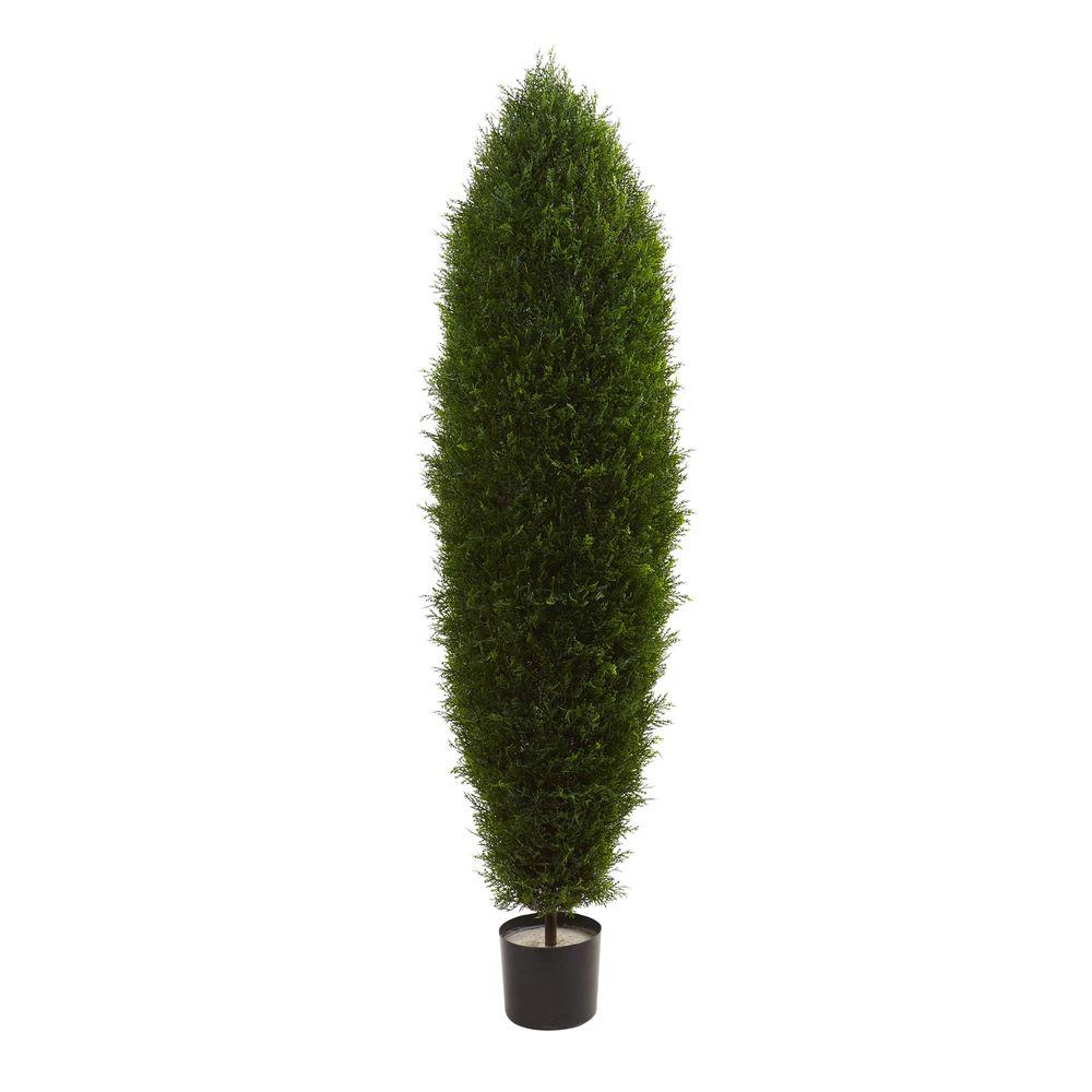 Nearly Natural 5 ft. UV Resistant Indoor/Outdoor Cypress Tree-5455 ...