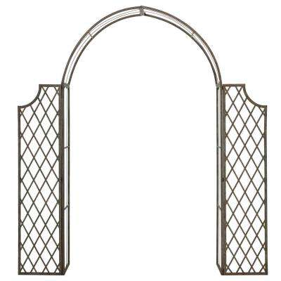 Jaida 87.8 in. x 68.5 in. Outdoor Iron Arbor
