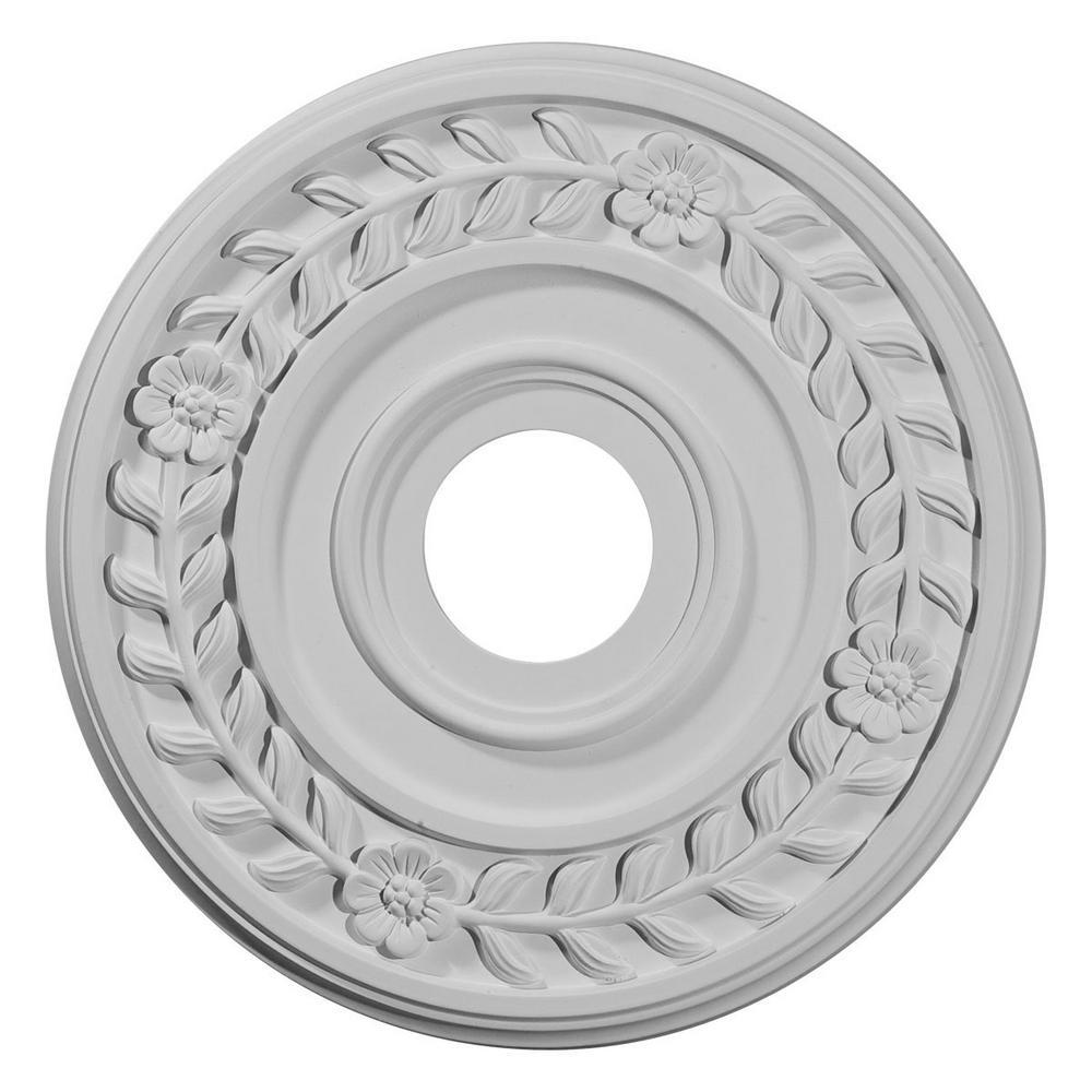 16-1/4 in. OD x 3-5/8 in. ID x 1 in. P (Fits Canopies up to 5-1/2 in.) Wreath Ceiling Medallion