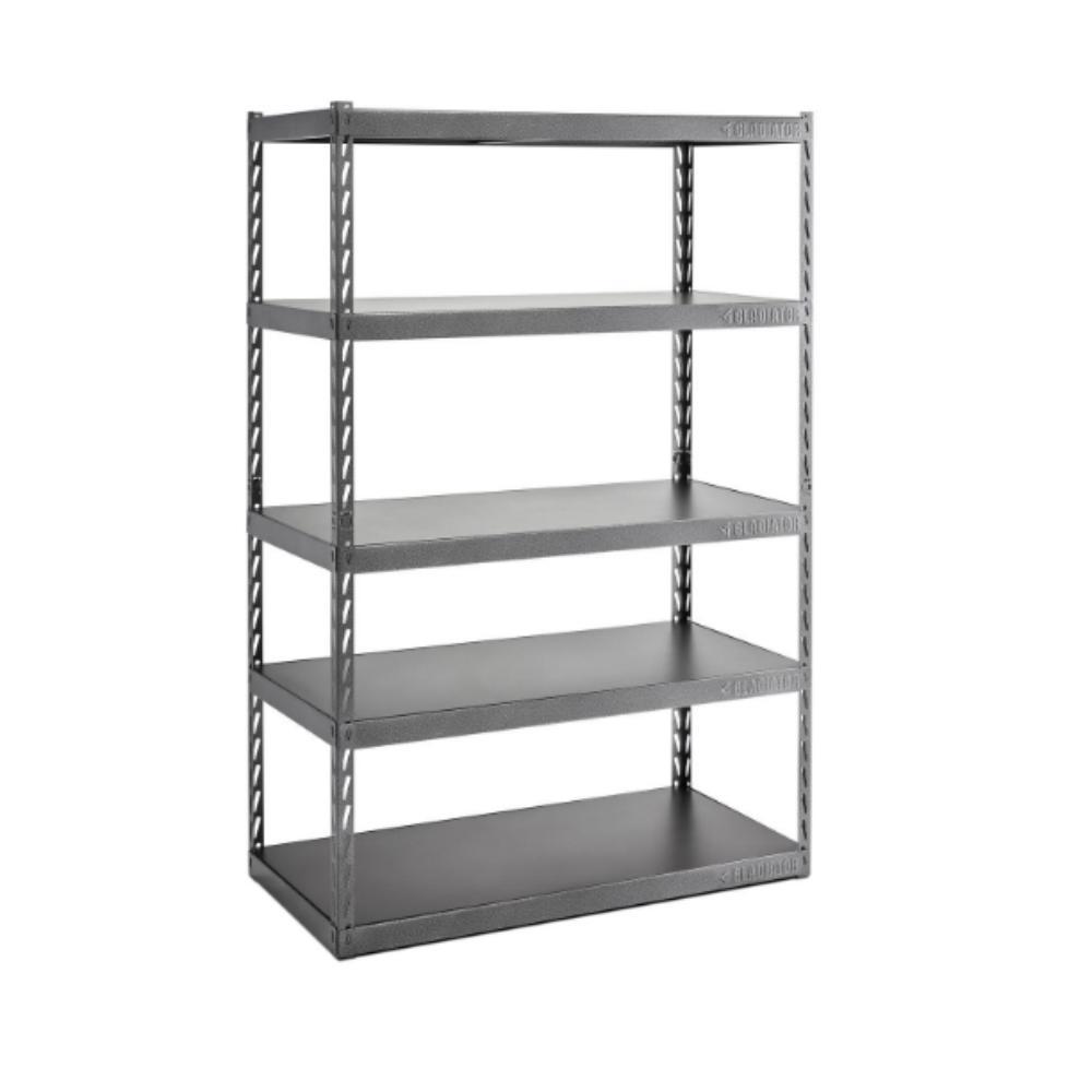 W x 24 in Gladiator 72in H x 77 in D 4-Shelf Welded Steel Garage Shelving Unit