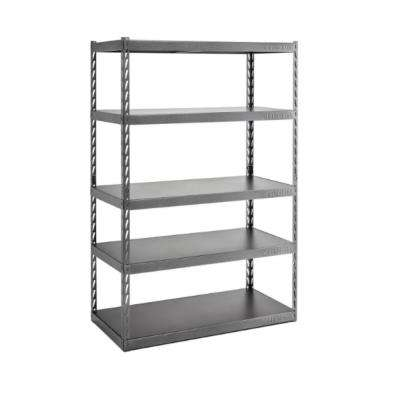 72 in. H x 48 in. W x 24 in. D 5-Shelf Steel Garage Shelving Unit with EZ Connect