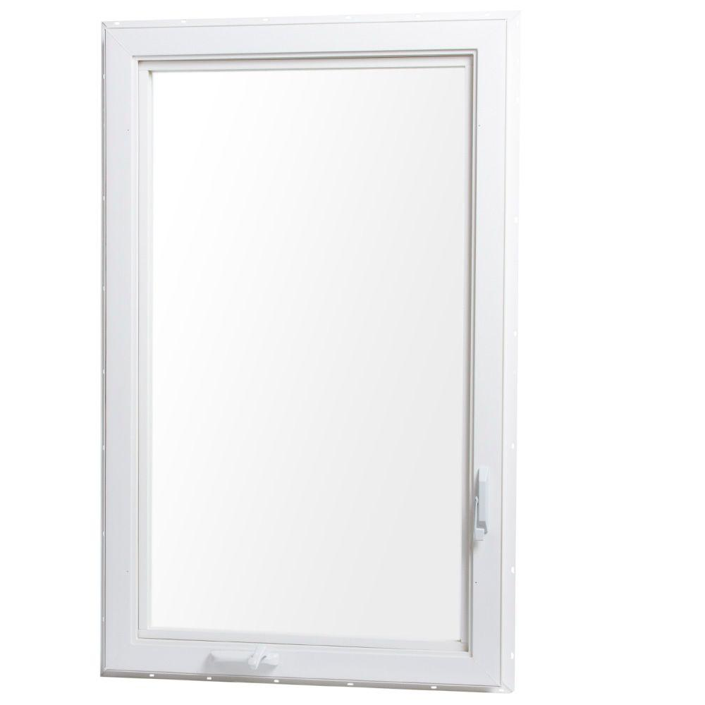 Tafco windows 30 in x 48 in left hand vinyl casement for Vinyl casement windows