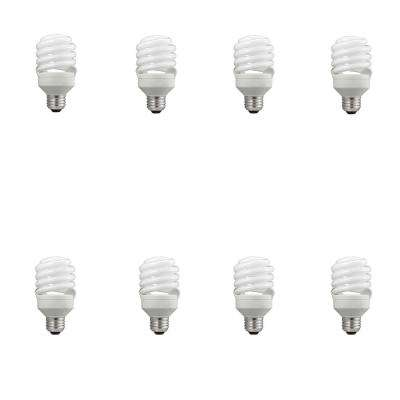 75-Watt Equivalent T2 Spiral CFL Soft White Light Bulb (8-Pack)