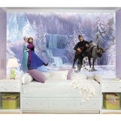 72 in. x 126 in. Disney Frozen Chair Rail Pre-Pasted Wall Mural