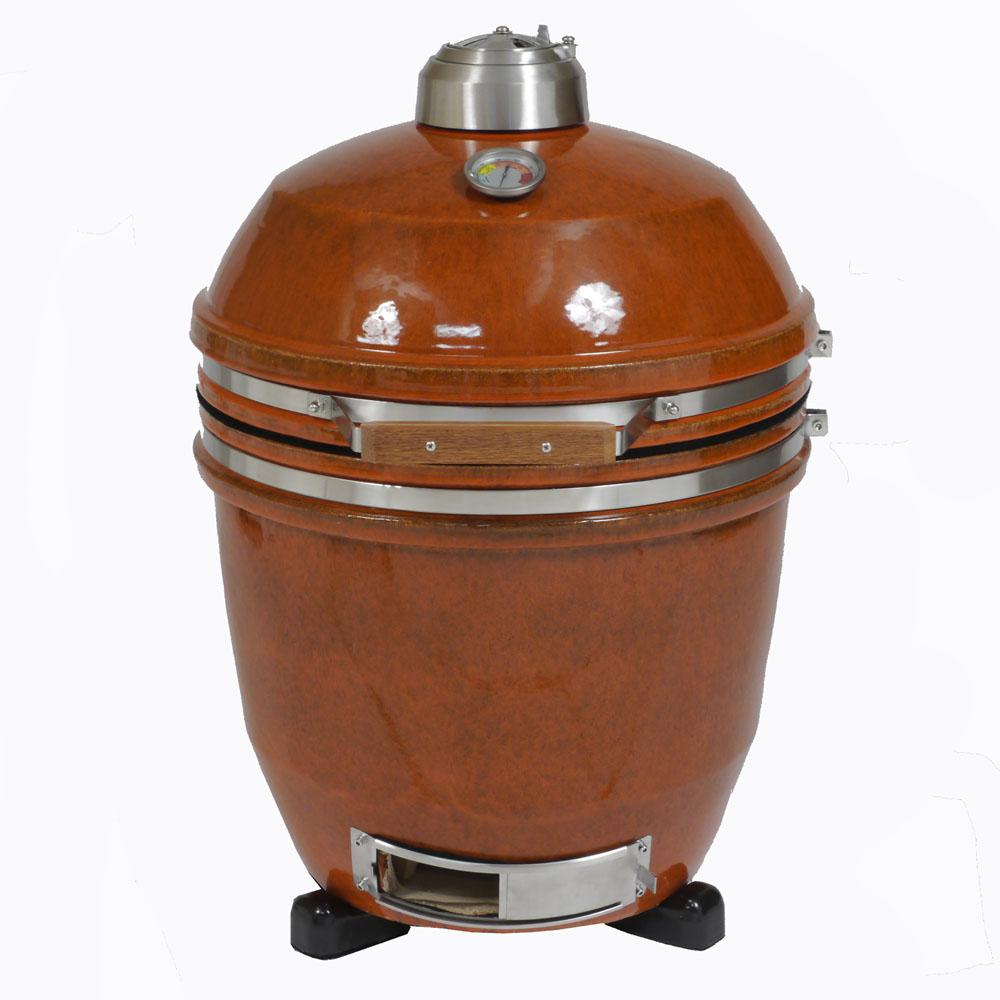 19 in. Ceramic Kamado Grill in Rust