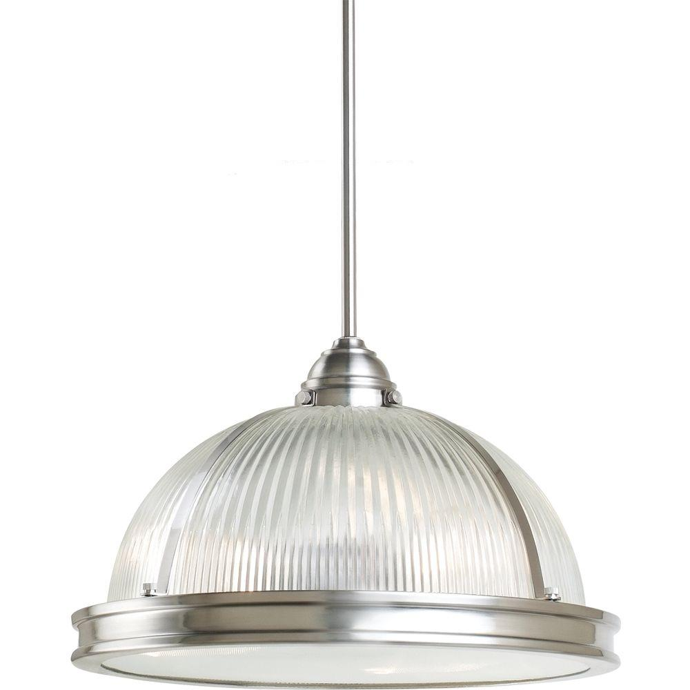 Sea Gull Lighting Pratt Street Prismatic 3 Light Brushed Nickel Pendant