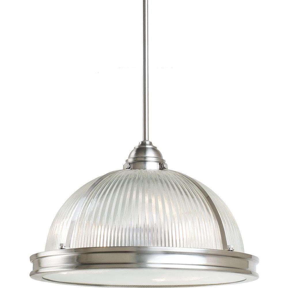Pratt Street Prismatic 3-Light Brushed Nickel Pendant