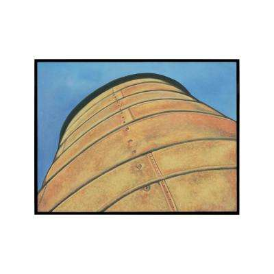 """31 in. x 41 in. """"American Silo"""" Hand Painted Framed Canvas Wall Art"""