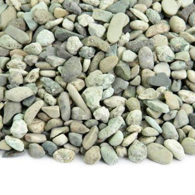 5 lbs. of Polynesian Green 3/8 in. to 5/8 in. Polished Pebbles