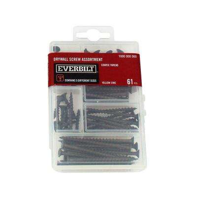 Yellow Zinc Drywall Screw Assortment (61-Pack)