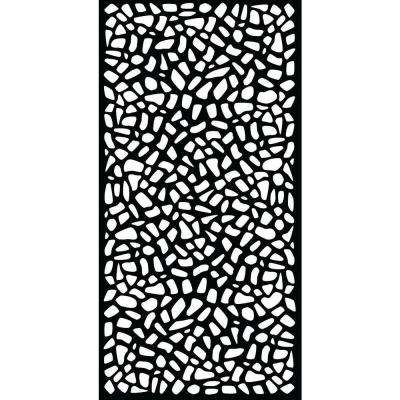 0.3 in. x 71 in. x 2.95 ft. Riverbank Recycled Plastic Charcoal Decorative Screen (3-Piece per Bundle)
