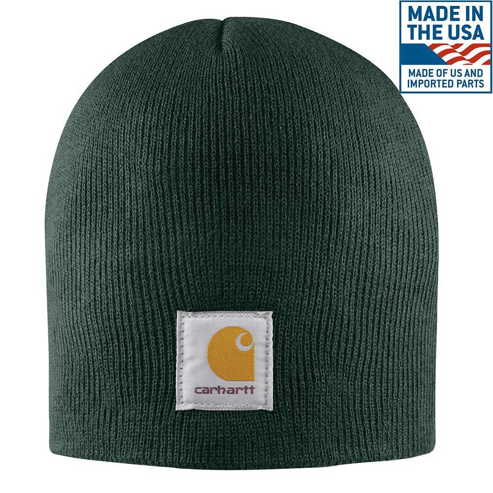 e81f48801464e Carhartt Men s OFA Dark Green Acrylic Hat Headwear-A205-DGR - The ...