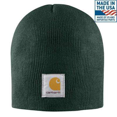 Men's OFA Dark Green Acrylic Hat Headwear