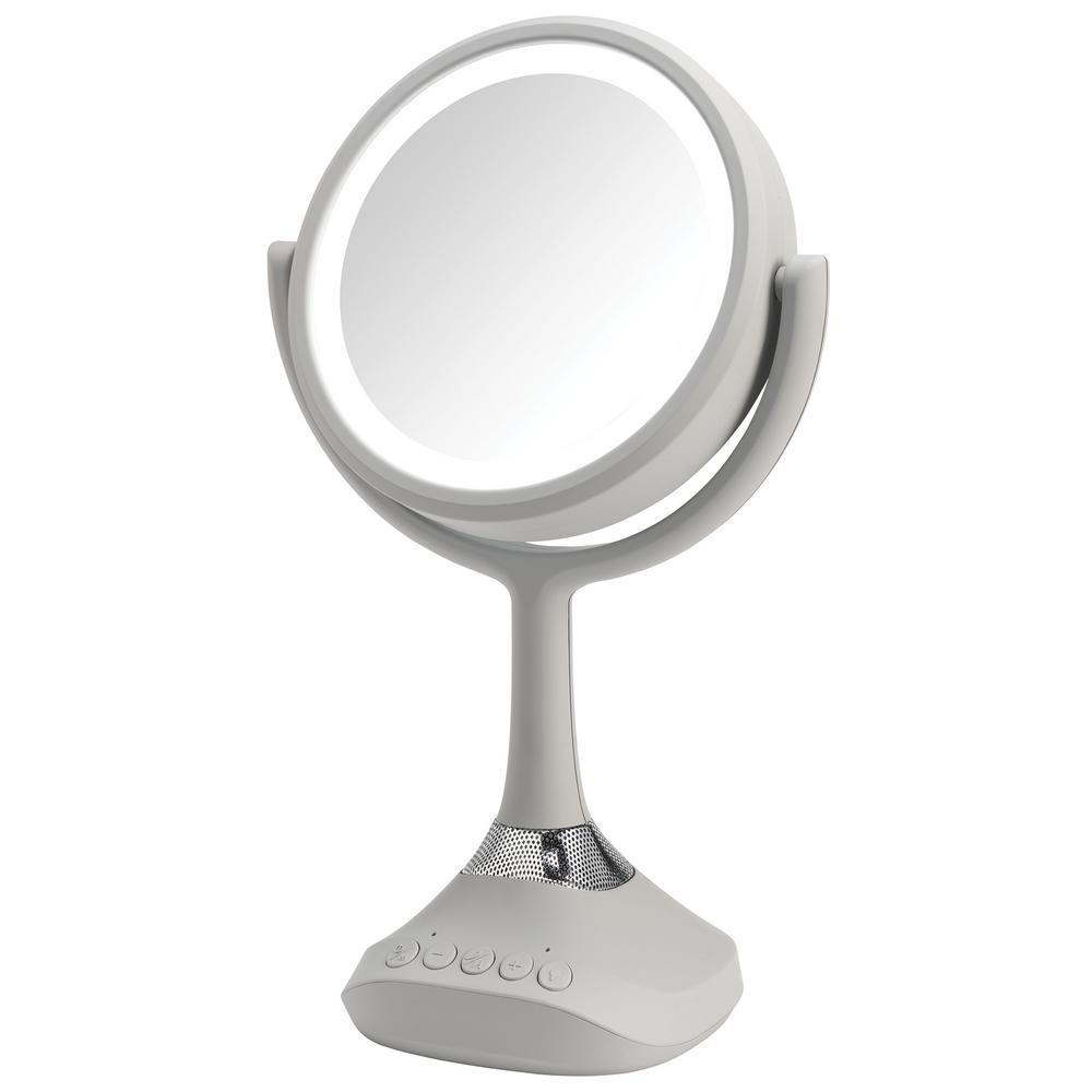 Zadro 20x Extreme Magnification Spot Makeup Mirror In Gray