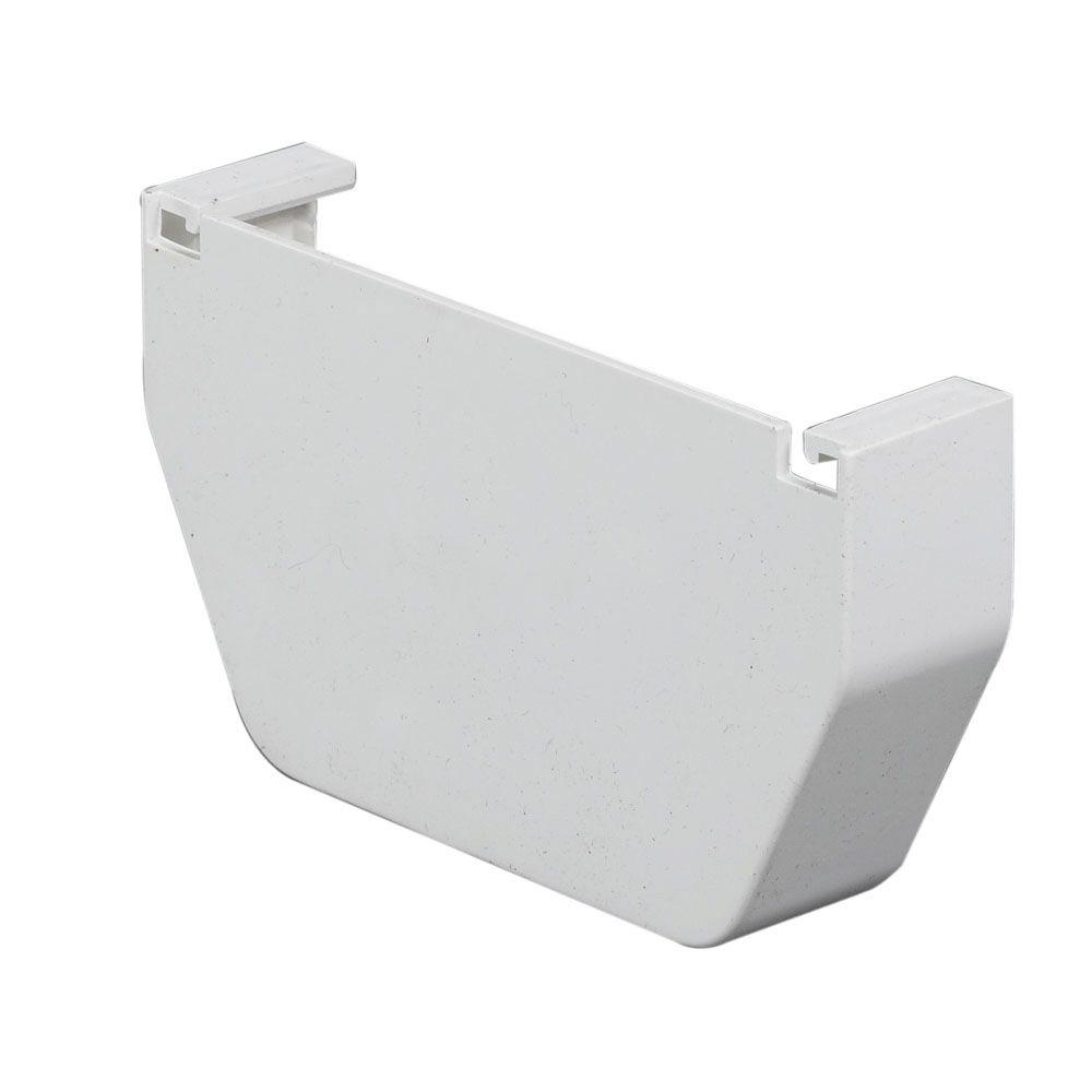 Amerimax Home Products 4 In White Vinyl End Cap T0411
