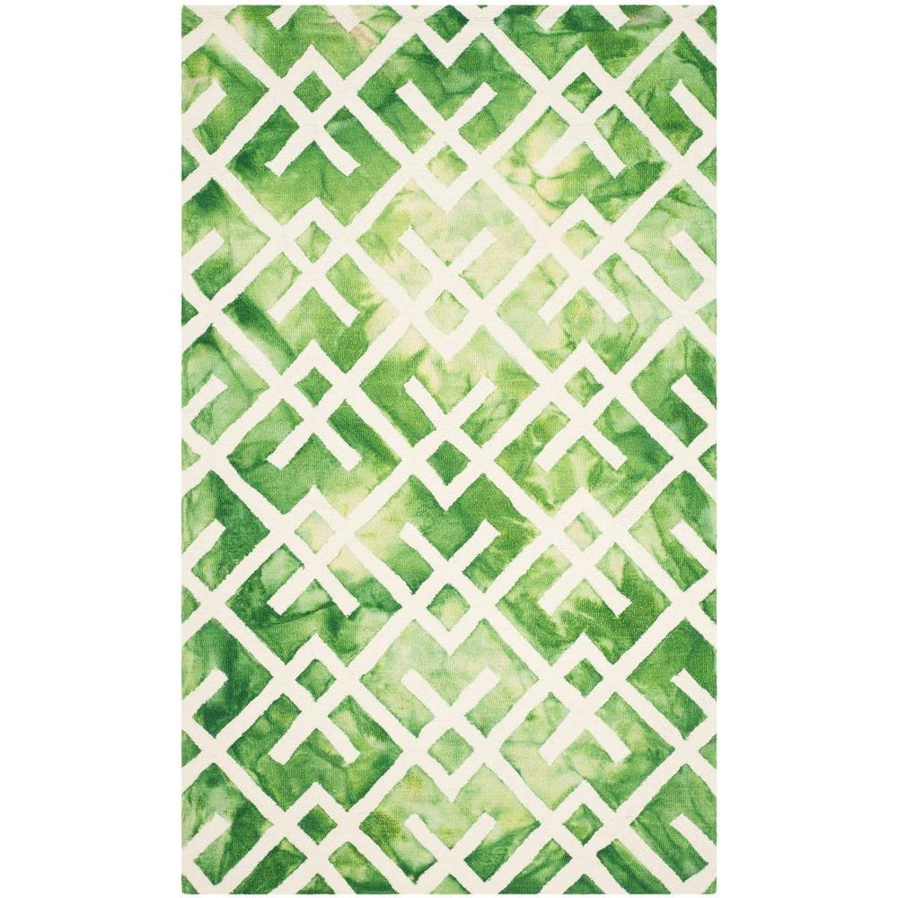 Dip Dye Green/Ivory 8 ft. x 10 ft. Area Rug