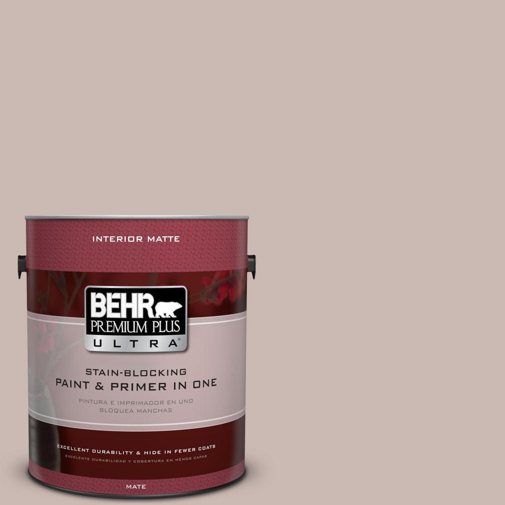 BEHR Premium Plus Ultra 1 gal. #N170-3 Gray Ashlar Matte Interior Paint