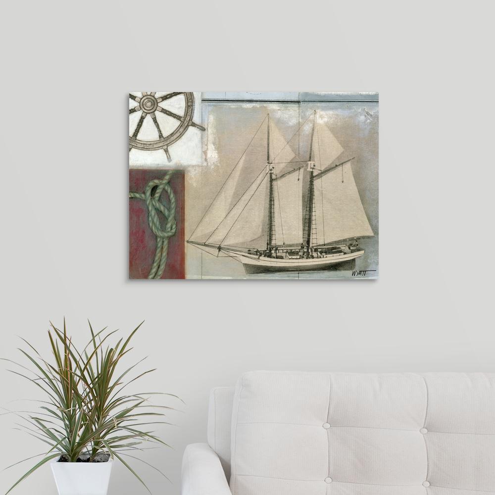 Greatbigcanvas Sea Breeze Ii By Norman Wyatt Canvas Wall Art 1138388 24 16x16 The Home Depot