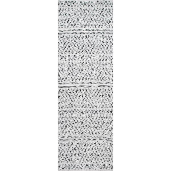 Nuloom Natosha Chevron Striped Silver 2 Ft 6 In X 8 Ft Indoor Outdoor Runner Rug Veme01a 2608 The Home Depot