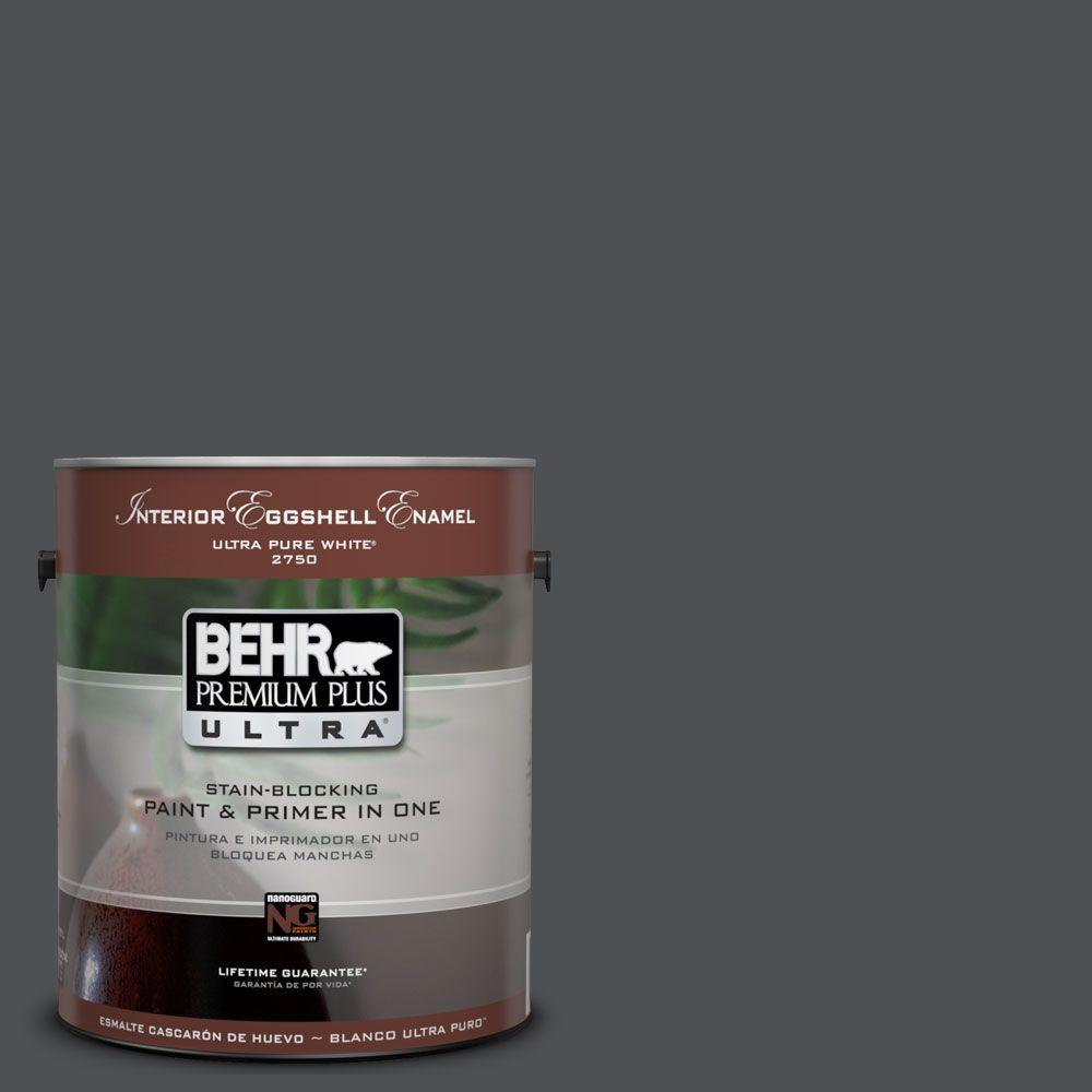 BEHR Premium Plus Ultra 1-Gal. #UL260-1 Cracked Pepper Interior Eggshell Enamel Paint