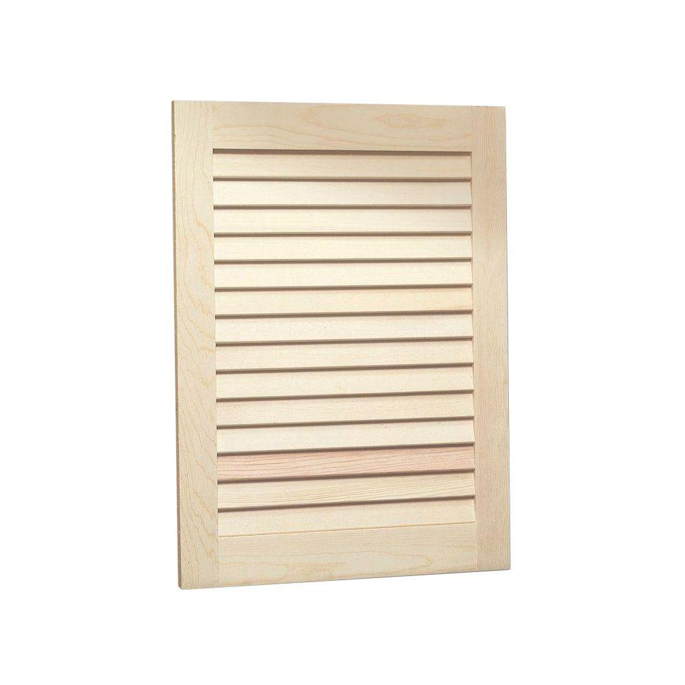 Louvered 16 in w x 26 in h x 4 1 2 in d frameless for Unfinished bathroom cabinets 72