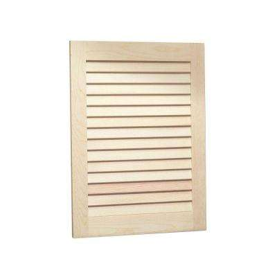 Louvered 16 in. W x 26 in. H x 4-1/2 in. D Frameless Recessed Bathroom Cabinet with Unfinished Pine Door
